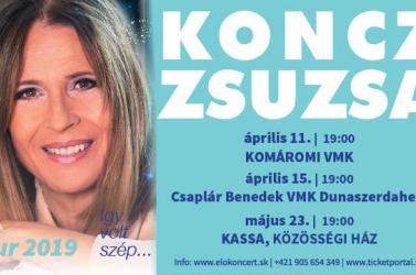 Koncz Zsuzsa koncertek Komáromban, Dunaszerdahelyen és Kassán