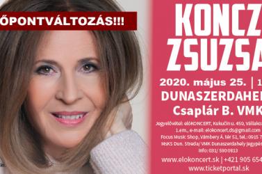 Időpontváltozás: Az aktuális szükséghelyzet miatt a mai Koncz Zsuzsa koncert is elmarad!
