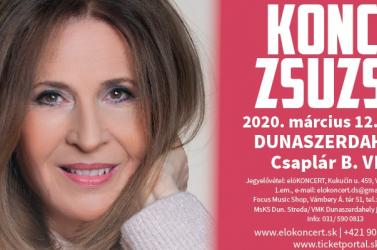 Dunaszerdahelyen ad koncertet a legendás Koncz Zsuzsa és zenekara!