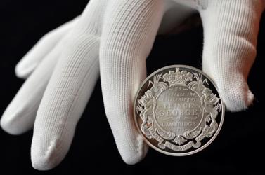 Ötvenezer font értékű emlékérme is készül György herceg keresztelőjére
