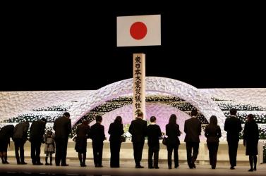 A két évvel ezelőtti katasztrófára emlékeztek Japánban