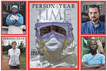 Az ebola ellen harcolók lettek az év emberei