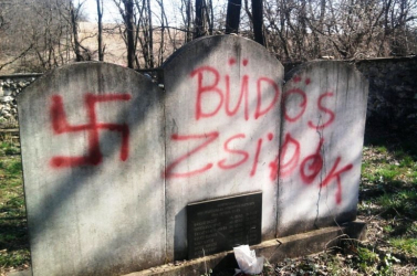 Meggyaláztak egy zsidótemetőt