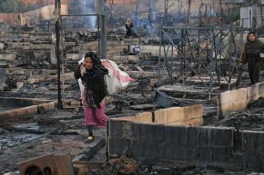 Egy családi vita után felgyújtottak egy menekülttábort Libanonban