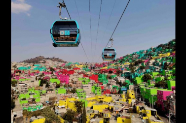 A világ leghosszabb városi drótkötélpályás felvonójaként ismerte el a Guinness a mexikóvárosi Cablebús 2-t