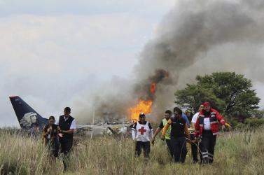 Felszállás közben lezuhant egy mexikói repülőgép