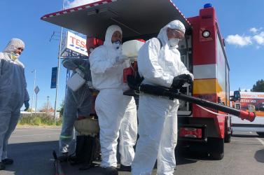 Önkéntes tűzoltók végeztek fertőtlenítést Nagymegyeren