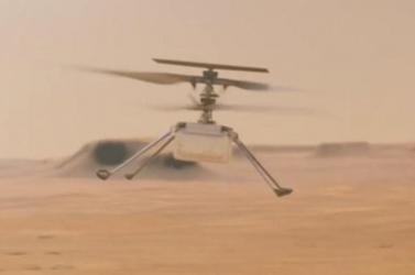A NASA közzétette marsi helikopterének zümmögő hangját VIDEÓ