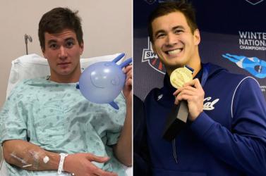 Rákbeteg az úszó olimpiai bajnok