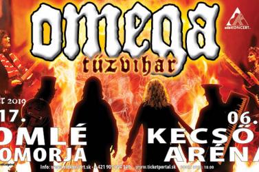Tűzvihar turnéja keretében Somorján és Kecsőn koncertezik a legendás OMEGA