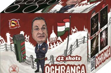 Egy szlovák webportál Orbán Viktor karikatúrájával és a magyar határkerítéssel illusztrált petárdát árul!