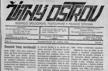 Az első szlovák lap Dunaszerdahelyen
