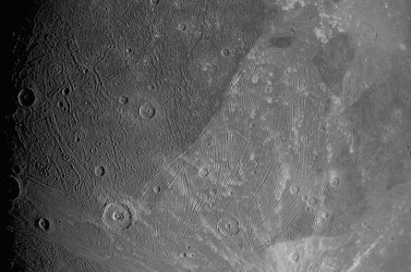 Közeli felvétel készült a Jupiter legnagyobb holdjáról