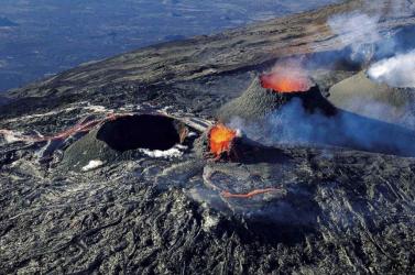 Kitört egy vulkán a francia Réunion szigetén