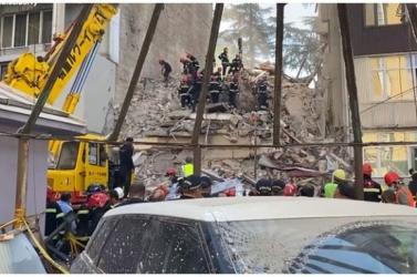 Összeomlott egy hétemeletes lakóház Georgiában, többen meghaltak