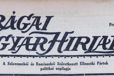 Már digitálisan is elérhető a Prágai Magyar Hírlap