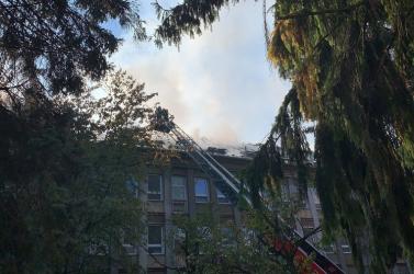Kigyulladt a rózsahegyi katonai kórház, a pácienseket evakuálták