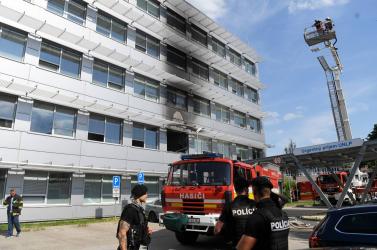 Tűz ütött ki a kassai Pasteur kórház felújítás alatt álló épületében