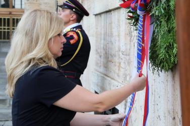 Čaputová: Emlékeznünk kell a megszállásra, ne torzítsunk atörténelmen