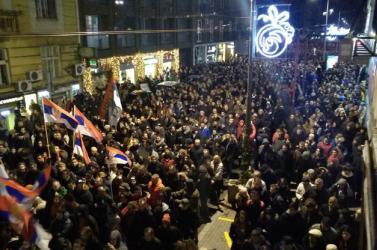 Több mint három hónapja tüntetnek Belgrádban a szerb elnök ellen eredménytelenül