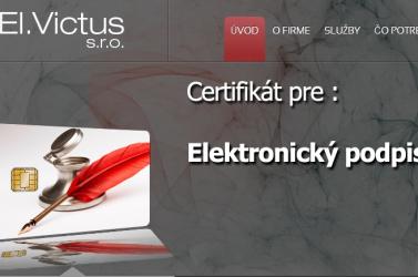 Elektronikus aláírást az El.Victus s.r.o.-tól