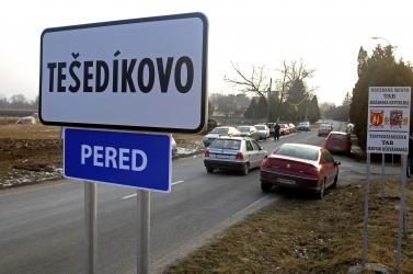 Szombaton népszavazáson törölnék el a Tešedíkovo megnevezést a perediek