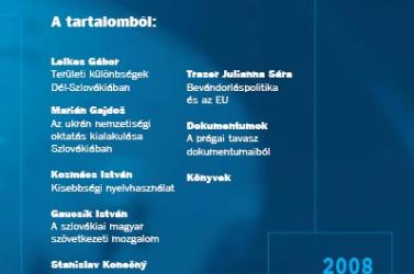 Megjelent a Fórum 2008/3-as száma