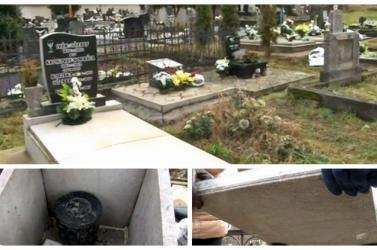 VANDALIZMUS: Sírokat fosztogatott egy elvetemült, a hamvakat szétszórta a temetőben
