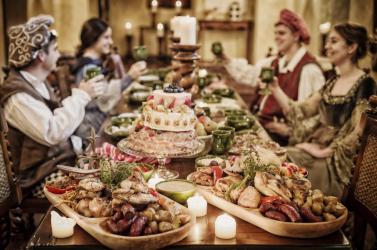 Középkori vacsora az Amade kastélyban