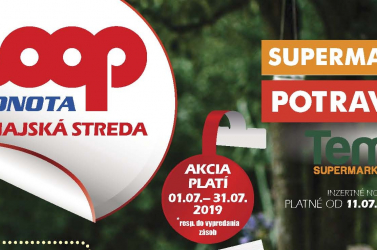 A COOP Jednota Dunaszerdahely júliusi akciója