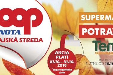 A COOP Jednota Dunaszerdahely októberi akciója