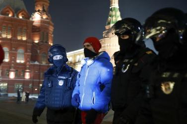 Több mint 1400 tüntetőtvettek őrizetbeNavalnijtárgyalásánaknapján