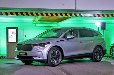 Íme, a Škoda új elektromos modellje, az Enyaq