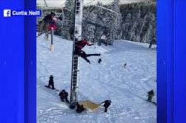 Fejjel lefelé akasztotta föl magát snowboardos VIDEÓ