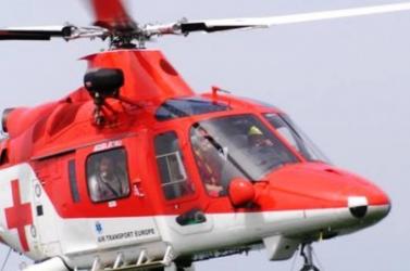 Mentőhelikopter az ifjúsági kézilabdameccsen!