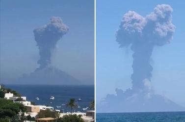 Látványos vulkánkitörések figyelhetőek meg Stromboli szigetén (Videó)