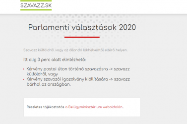 Magyar nyelven elérhető weboldal segíti a külföldön élő szlovákiai magyarokat a szavazásban