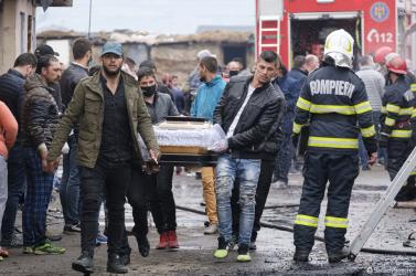 Tűz ütött ki a januárban részben leégett csíksomlyói nyomornegyedben