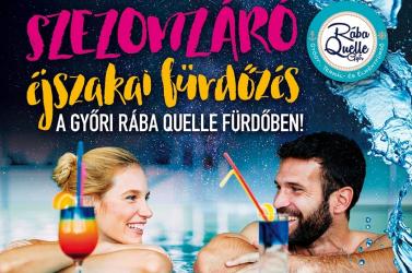 Szezonzáró éjszakai fürdőzés a Rába Quelle Fürdőben!