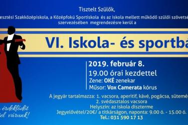 VI. Iskola- és sportbál a dunaszerdahelyi Vidékfejlesztési Szakközépiskola és Középfokú Sportiskolában
