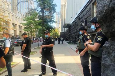 Kézigránátot akart robbantaniegy férfi az ukrán kormány székházában