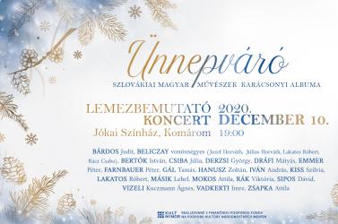 Ünnepváró lemezbemutató koncert a Komáromi Jókai Színházban