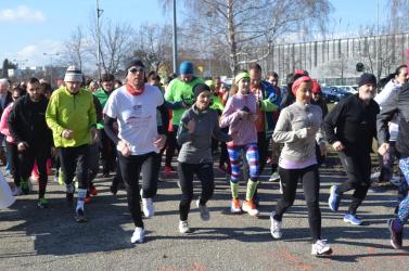 Szívük a futásért hevesen dobogott a Bálint-napi futáson