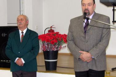 Nagymegyer kitünteti Varga Frigyes nyugalmazott pedagógust