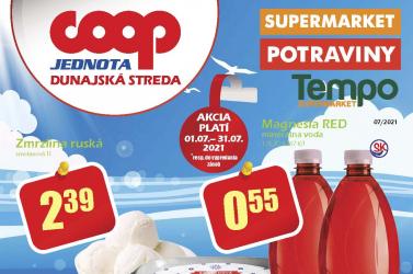 Lapozza át a COOP Jednota Dunaszerdahely júliusi akciós újságát!