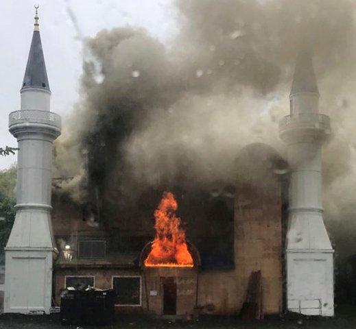 Gyújtogatás okozta a hétvégi mecsettüzet az Egyesült Államokban