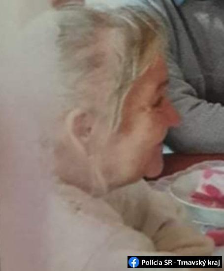 Segíts megtalálni! Nyoma veszett egy 66 éves galántai nőnek