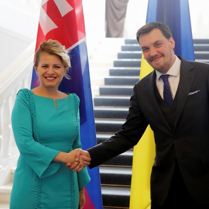 Čaputová az ukrán kormányfővel is találkozott Kijevben