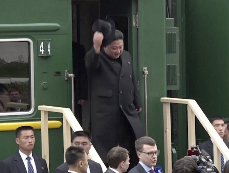 Kim Dzsong Un páncélvonattal utazott az orosz-észak-koreai csúcstalálkozóra