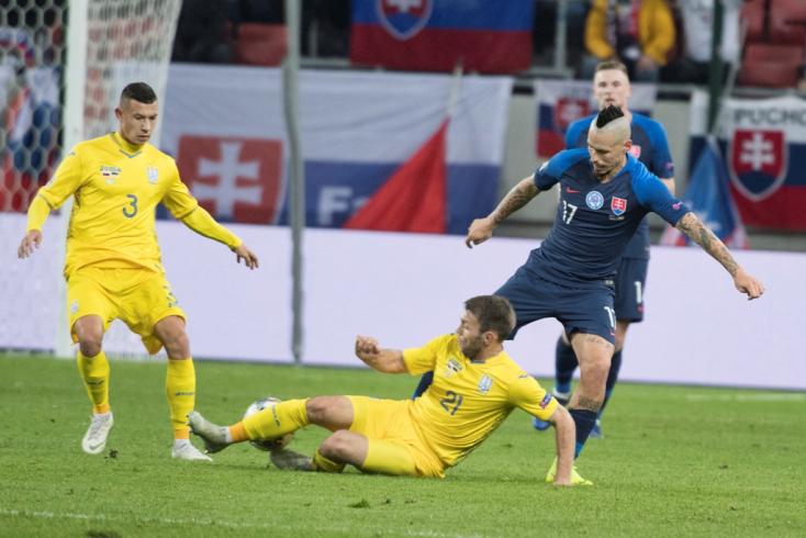Nemzetek Ligája: Négyet vágtak a szlovákok Ukrajnának Hapal debütálásán